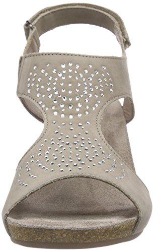 Mephisto Jodie Spark Bucksoft 6960 Warm Grey - Sandalias Mujer Gris - Grau (WARM GREY)