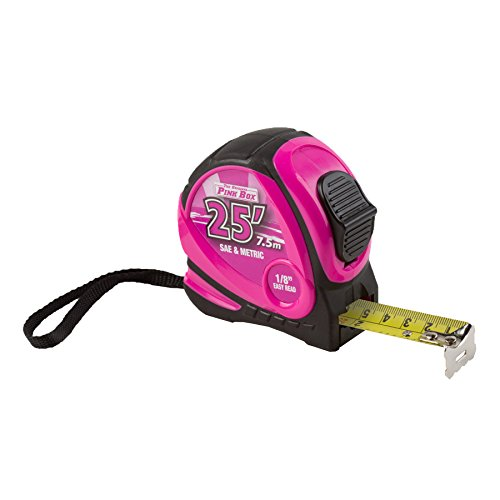 Read Tape Measure (The Original Pink Box PB25TAPE Tape Measure, Pink, 25-Feet)