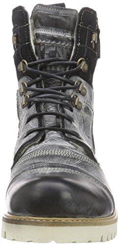 Yellow Cab SOLDIER EVA M - botas de caño bajo de cuero hombre negro - negro