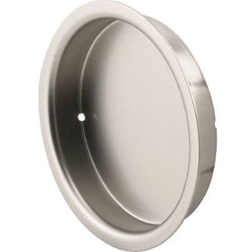 Slide-Co 163920 Mortise Closet Door Pull, 5/16 in. Depth x 2-1/8 in. Outside Diameter, Solid Steel, Satin Nickel Finish