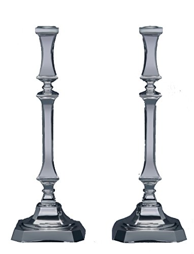Hazorfim, Bagatel Silver Candlesticks holder, set of Two- Small Shabbat candlestick sterling judaica Israel Holy land gift Sabbath candles light 925 wedding gift present by Hazorfim