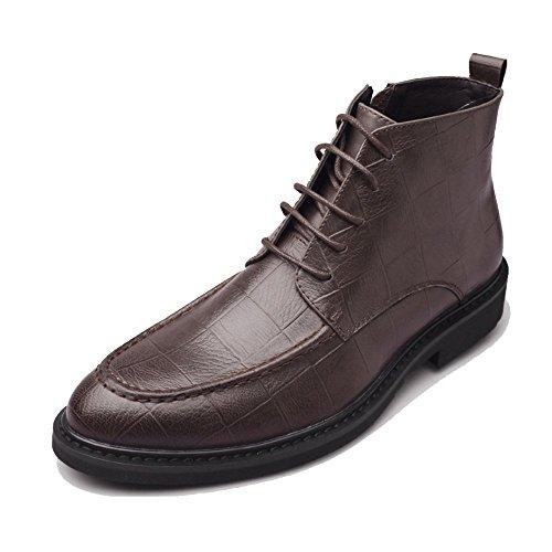 Pente Métal Classique Paresseux Extérieure Chaussures Cuir DHFUD en Bleu Hommes Mode Rivets étanche Brown avec en Casual Boucle Cuir Jeunes FqT8C