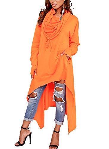 (Speedle Women's Pullover Plus Size Hoodie Asymmetric Dip Hem Sweatshirt Dress)