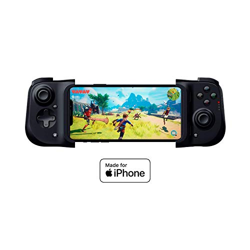 Razer Kishi Controller for iPhone: Compatible with Most iPhones - Cloud Gaming Ready - Lightning Port Passthrough Charging - Clickable Analog Thumbsticks