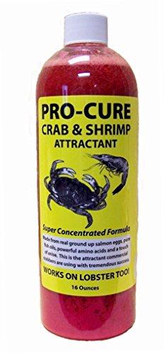 Pro-Cure Crab and Shrimp Attractant Bait Oil, 16 Ounce