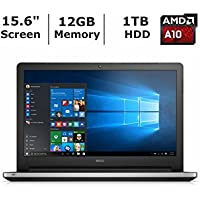 2018 Dell Inspiron 5000 15.6 Premium High Performance Laptop Computer, AMD A10-8700P 1.8GHz Processor, 12GB RAM, 1TB HDD, DVDRW, USB 3.0, HDMI, Bluetooth 4.0, Windows 8 (Certified Refurbished)