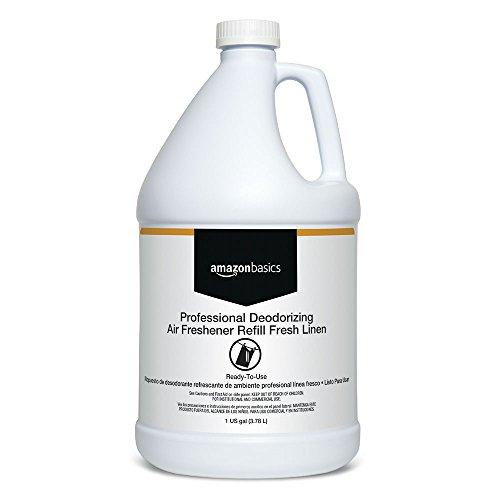 - AmazonBasics Professional Deodorizing Air Freshener Refill, Fresh Linen, 1-Gallon, 4-Pack