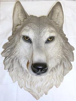 ih casa d cor DW-17781 Resin Wolf Head, Remus