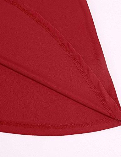d5134da06d95 ... ZEARO Damen beiläufig Ärmellos Spleiß O-Ansatz sexy rückenfrei hohl  Minikleid Rot SuArLFs2w