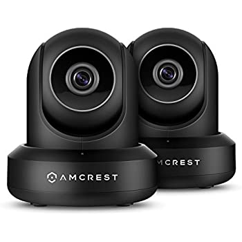 2-Pack Amcrest ProHD 1080P WiFi/Wireless IP Security Camera IP2M-841 (Black)