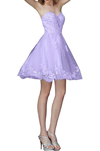 Festlichkleider mia Blau Lilac Cocktailkleider Abendkleider Braut Traegerlos Linie Hell Spitze Formal A Rock La Knielang 1dcztqw1