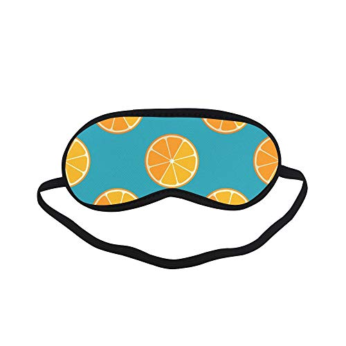 All Polyester Lemon And Orange Clementine Twig Fruits Delicious Winter Vitamin Design Sleeping Eye Masks&blindfold By Simple Health With Elastic Strap&headband For Adult Girls Kids And For Home Travel