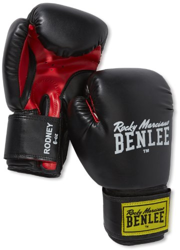 BENLEE Rocky Marciano Boxhandschuhe Training Gloves Rodney, Schwarz/Rot, 12, 194007