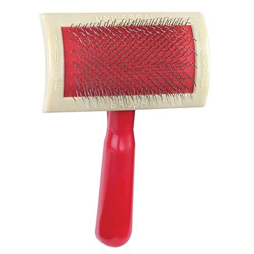Slicker Brushes For Dogs Universal Curved Back Red Grooming Brush Two Sizes (Large)