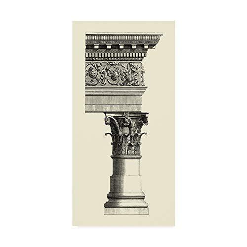 Vision Studio Column - Trademark Fine Art WAG00307-C1019GG Column and Cornice Ii by Vision Studio, 10x19-Inch 10x19 Multicolor