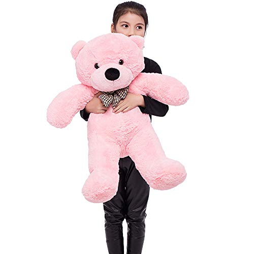 Cuddly Pink Teddy Bear - MaoGoLan Teddy Bear Stuffed Animal Plush Soft Cuddly Bear Toy for Girlfriend Children 39 Inch , Pink