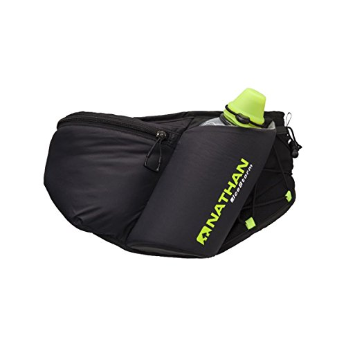 Nathan IceStorm Insulated WaistPak (18 oz), Black/Safety Yellow by Nathan