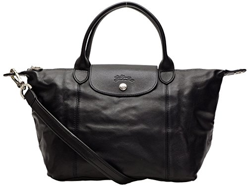 Longchamp bags LONGCHAMP 1512 737 001 LE PLIAGE CUIR shoulder bag NOIR