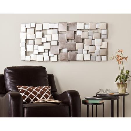 Geometric Design Metal Wall Sculpture In Metallic Ombre Finish