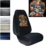 dead bucket seat - Seat Cover Connection Pirate Dead Men Tell No Tales print 2 High Back Bucket Car Truck SUV Seat Covers - Tan