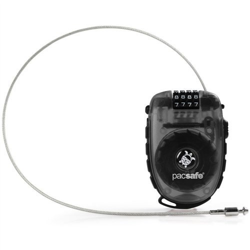 (PacSafe Retractasafe 250 Retractable Cable Lock - 4 Dial)
