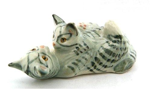 Dollhouse Miniatures Ceramic Cat No. 1 FIGURINE Animals Decor by ChangThai Design