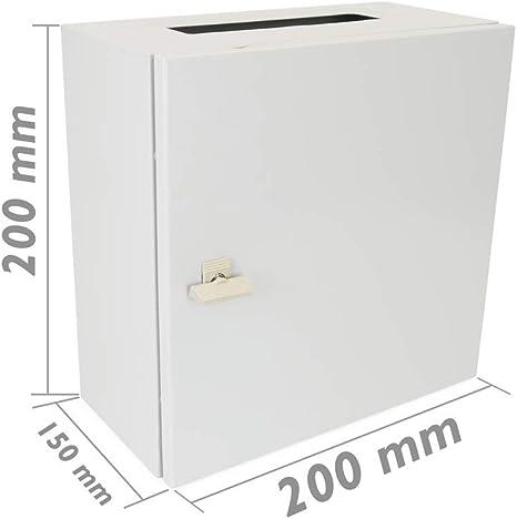 BeMatik - Caja de distribución eléctrica metálica con protección IP65 para fijación a Pared 200x200x150mm: Amazon.es: Electrónica