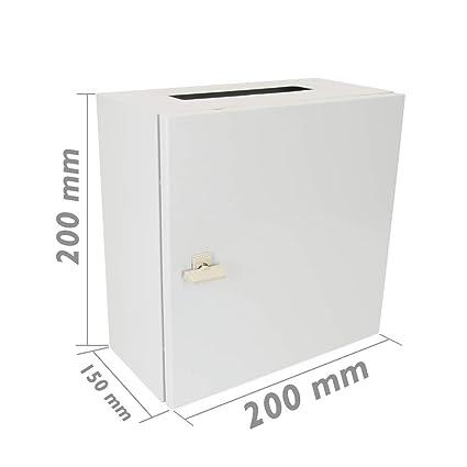 Cablematic - Caja de distribución eléctrica metálica con protección IP65 para fijación a pared 200x200x150mm