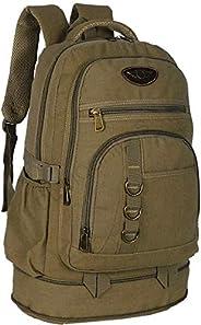 mochila de lona masculina camping resistente pesca viagem 50 litros grande