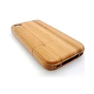 SODIAL(TM) Funda de Bambu para iPhone 4 - Hecho a Mano - Madera Rigida - Funda Rigida