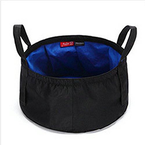 TATEELY 8.5L Outdoor Travel Folding Camping Washbasin Ultra-light Portable Basin Bucket Bowl Sink Washing Bag Hiking Water Bucket (blue) by TATEELY (Image #5)