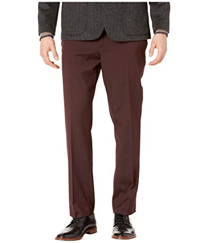 Perry Ellis Men's Slim Fit Stretch Twill Pant, Port/DHB, 34W X 30L from Perry Ellis