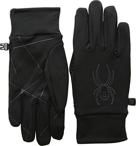 Spyder Men's Solace Stretch Fleece Glove, Black/Black, Medium