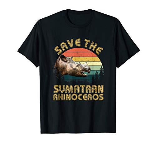 Save The Sumatran Rhinoceros 2019 Retro T-Shirt