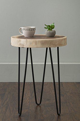 East at Main - Accent Table - Laredo Brown Teakwood Round En