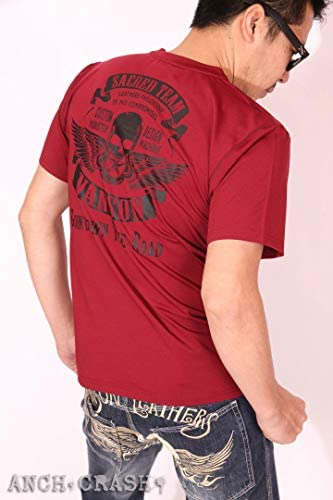 ドライ 半袖Tシャツ スカルウィング 吸水速乾 抗菌防臭 UVカット ACV-903