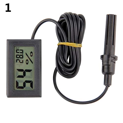 Price comparison product image TYewa98556 2019 Newest Teconology Thermometer,  Portable Mini LCD Thermometer Hygrometer Temperature Humidity Meter Probe - Black