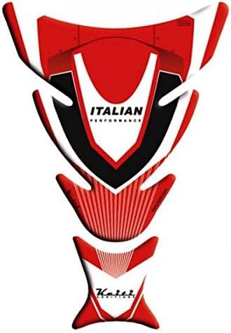 Keiti Tankpad Motorrad Tankschutz Tankprotektor Tankaufkleber Italia Racing Rot