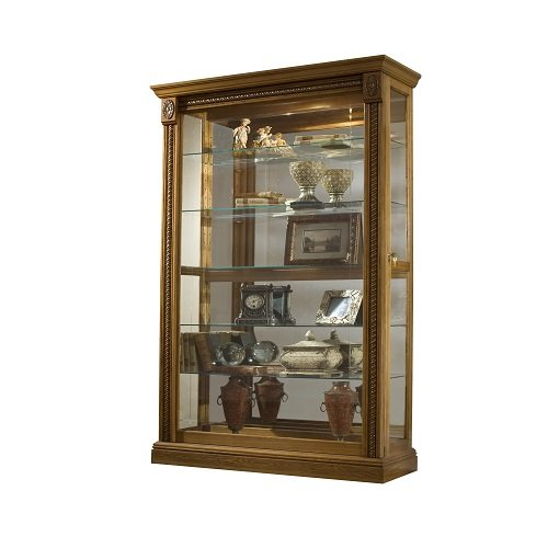 Pulaski Two Way Sliding Door Curio, 43 by 17 by 80-Inch, Medium (Oak Traditional Curio Cabinets)