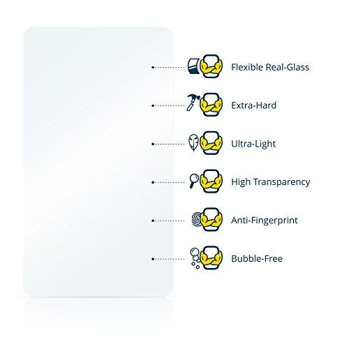 BROTECT AirGlass Pellicola Vetro Flessibile Chiaro per Apple iPhone SE Posteriore (superfici di vetro + logo) Proteggi Schermo, Vetro Protettivo - Extra-Resistente, Ultra-Leggero