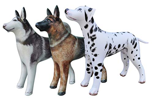 Jet Creations Dog Inflatable Animals 3 packGreat for Pool, Party Decoration, Birthday AN-3DOGS