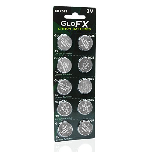 CR2025 Battery- Lithium Button Coin Cell Batteries - 3V 3 Volt - Remote Watch Jewelry led Key fob Replacement 2025 CR Pack Set Bulk (10 Pack)