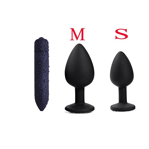 Erotic Toys Silicone Anal Plug Jewelry Dildo Vibrator Prostate Massager Bullet Vibrator Butt Plug Sex Toys for Men Women Couples 3PC