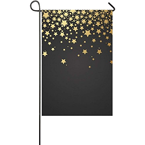 Welcome Flags Galaxy Star with Gold Stars Yard Garden Flag 1