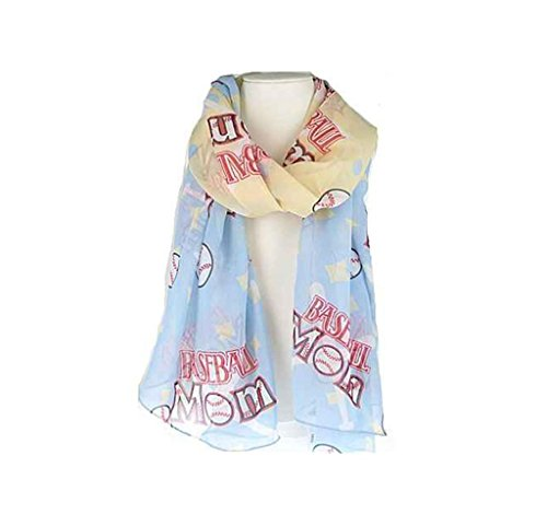 J&C Family Owned Baseball Theme Fashion Scarf Color: Light Blue 72