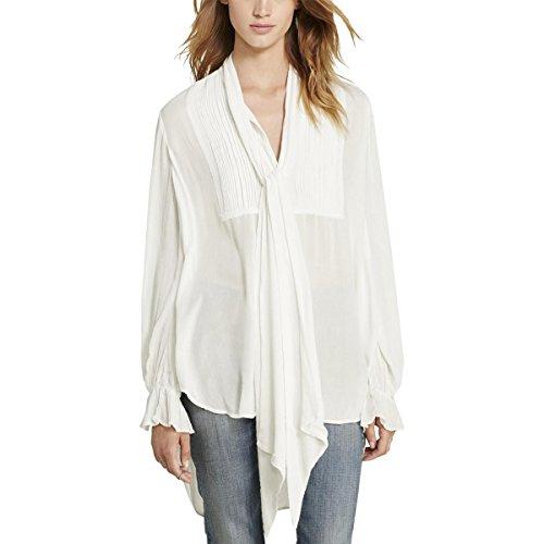 - Denim & Supply Ralph Lauren Womens Tuxedo Pintuck Button-Down Top White XS