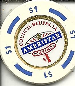 Amazon Com 1 Ameristar Casino Chip Council Bluffs Iowa