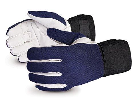VIBGV/XL Vibrastop Goatskin Leather Palm Full-Finger Vibration-Dampening Gloves, Size Extra Large