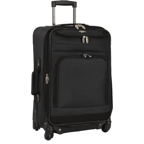 Travel Gear Spectrum II 21 Inch Expandable Spinner, Black/Black, One Size