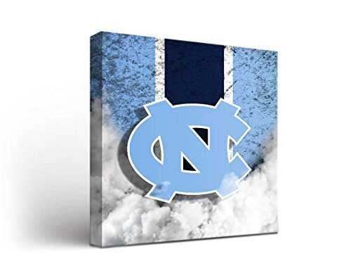 North Carolina UNC Tar Heels Canvas Wall Art Vintage Design (12x12) (Unc Tar Heels Wall)